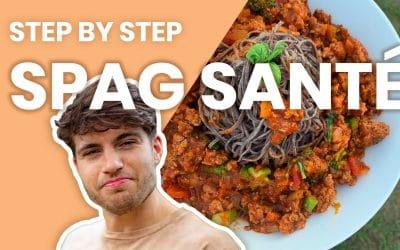 Recette: Spag santé – Le step by step