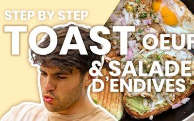 Recette: Toast à l'oeuf & salade d'endives – Le step by step