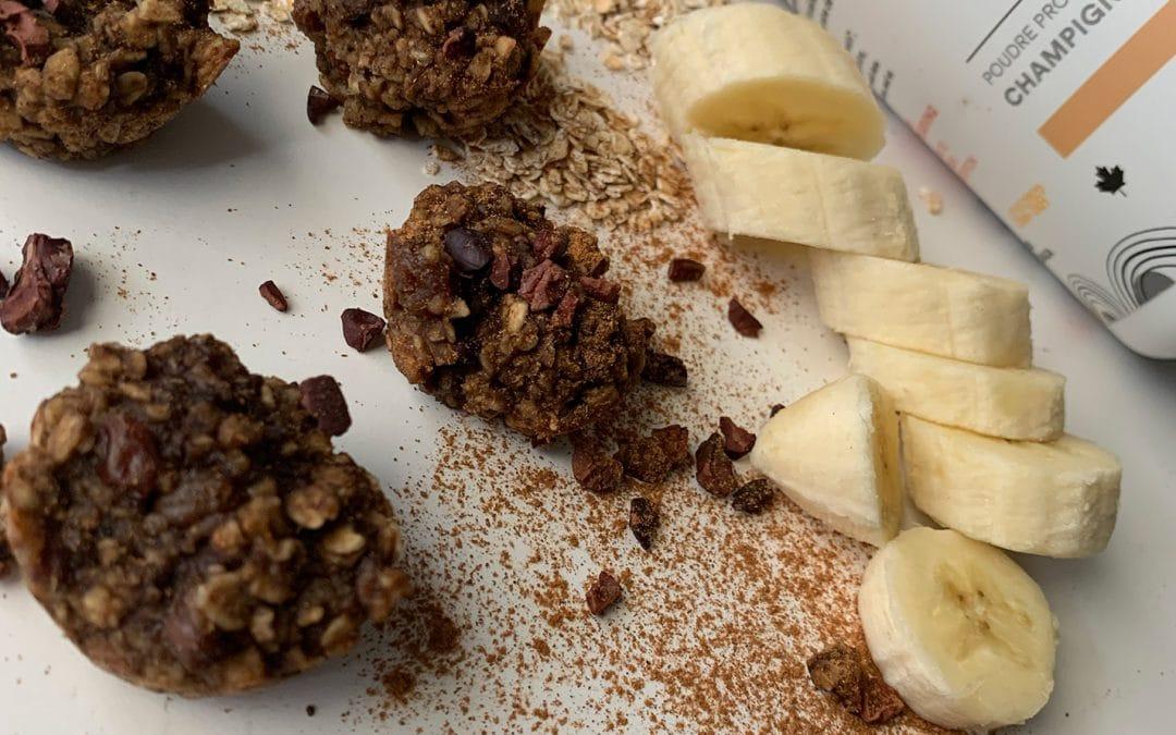 Biscuits grillon, avocat et banane, prêt en 15 minutes