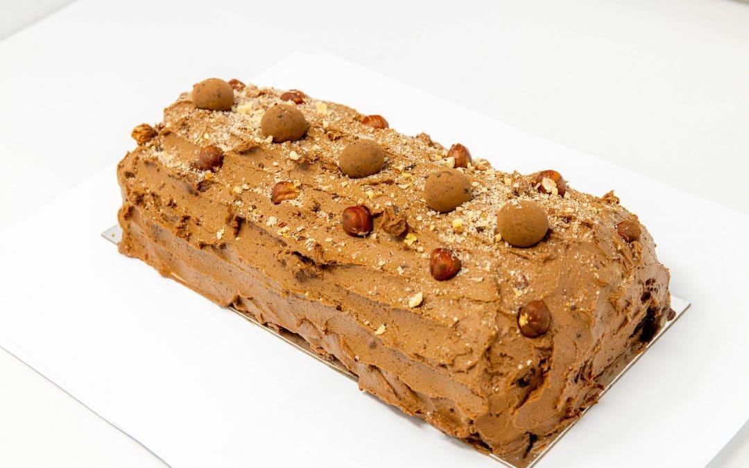 Gâteau roulé au choco noisettes