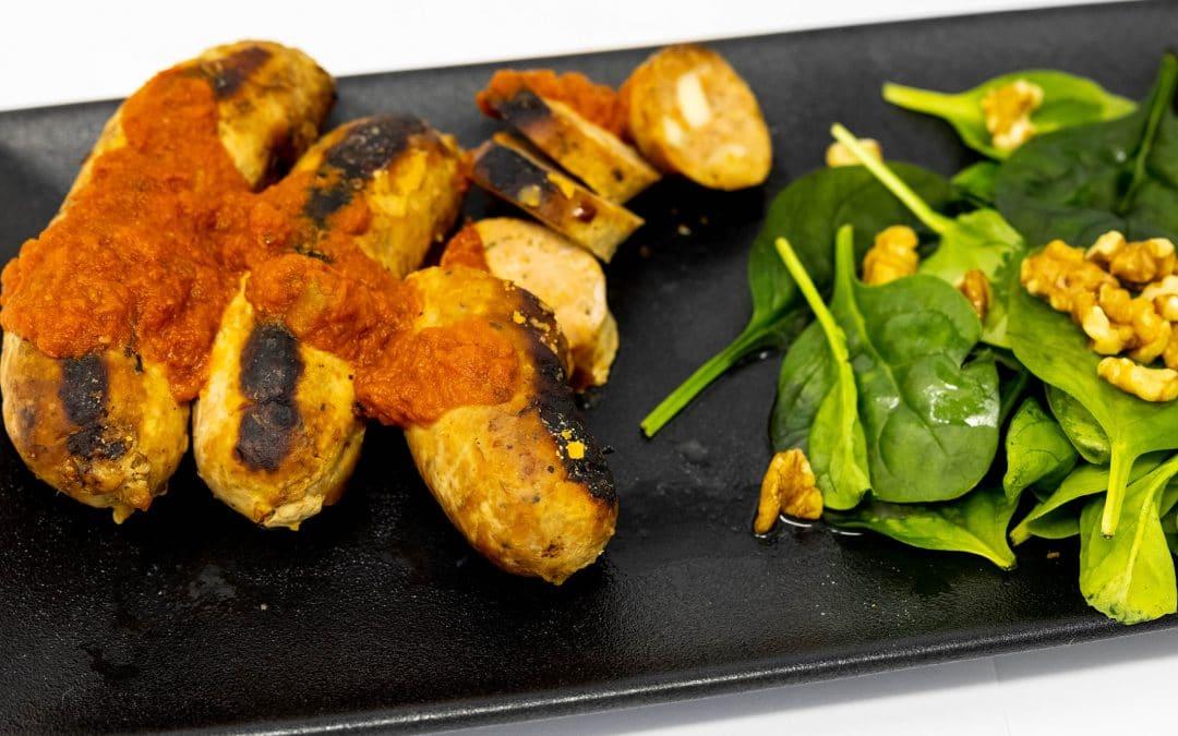 Saucisses maison parmigiana